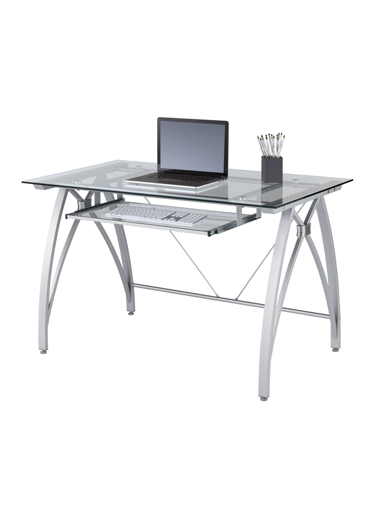 Realspace Vista Glass Computer Desk, Are Glass Desks Good For Gaming