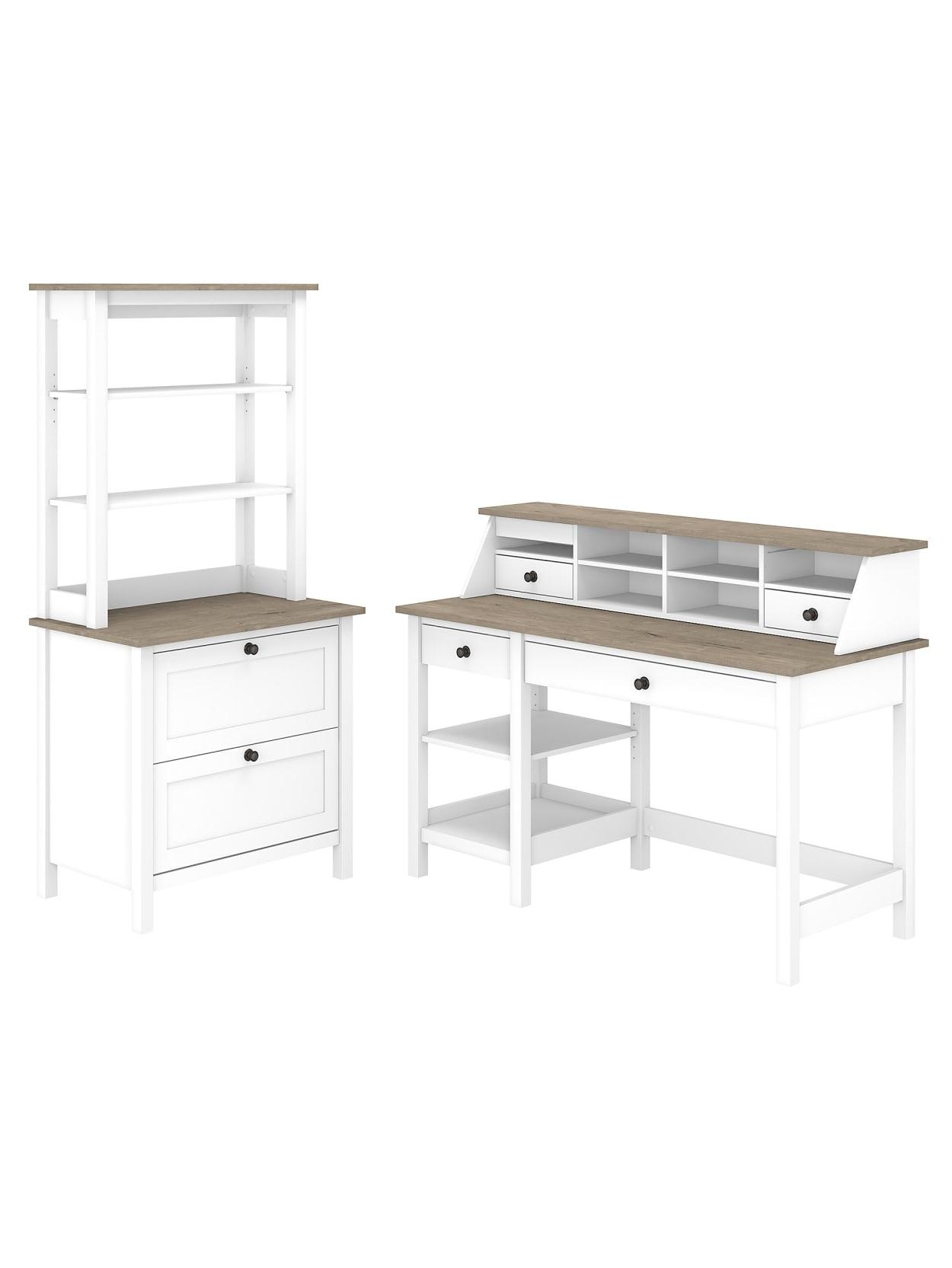 Bush Furniture Mayfield 32 W Computer Desk With Shelves Desktop
