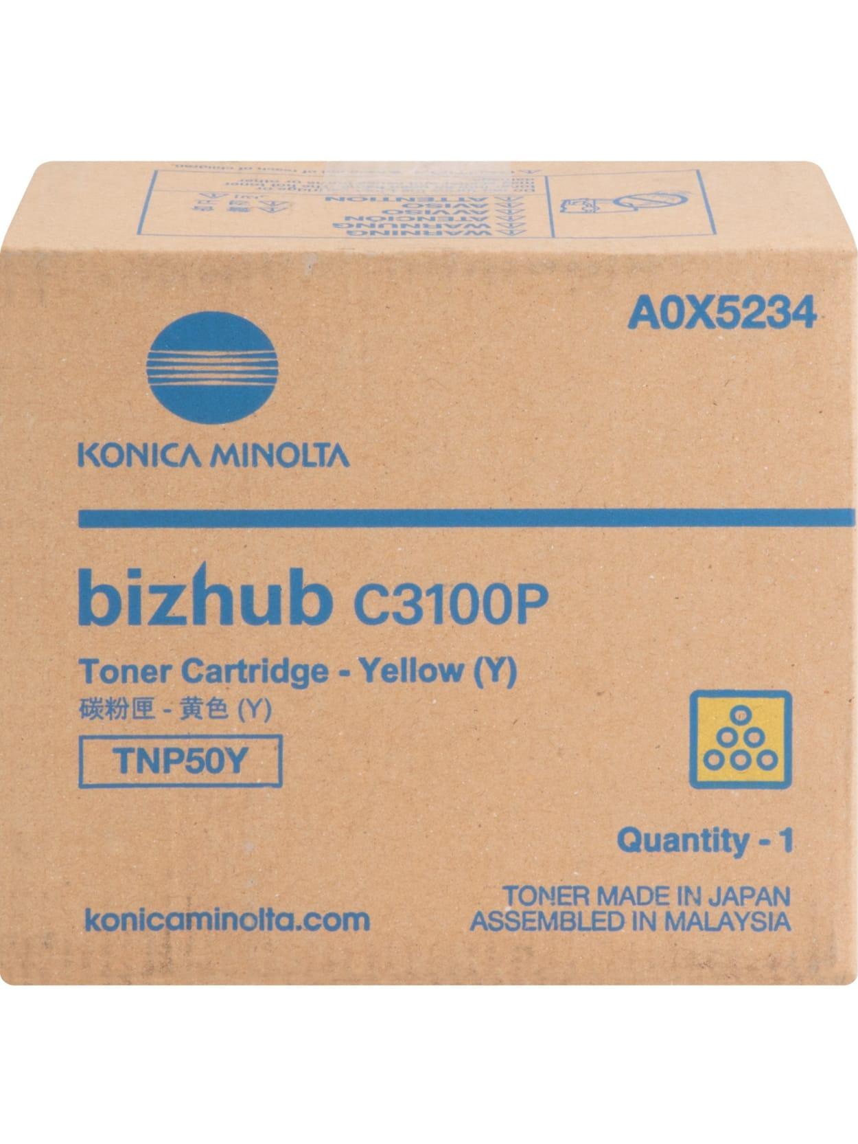 Yellow Konica Minolta TNP50Y Toner Cartridge