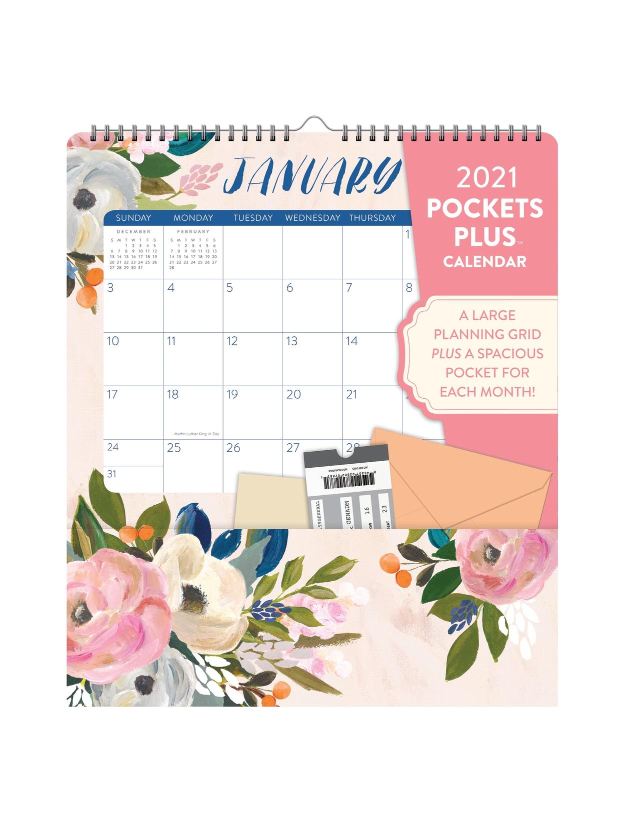 2021 Calendar With Pockets OCS Bella Pockets Plus Calendar 2021   Office Depot