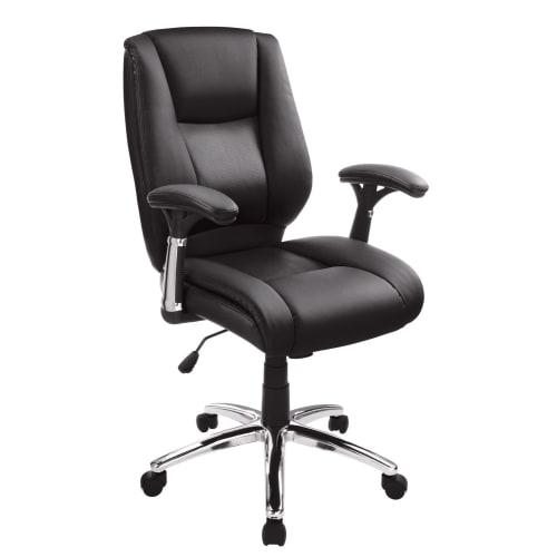Realspace Eaton Bonded Leather Manager Mid-Back Chair
