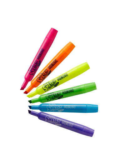 Mr Sketch Scented Stix Markers-6 Neon Colors-Intergalactic Scents-Save on two
