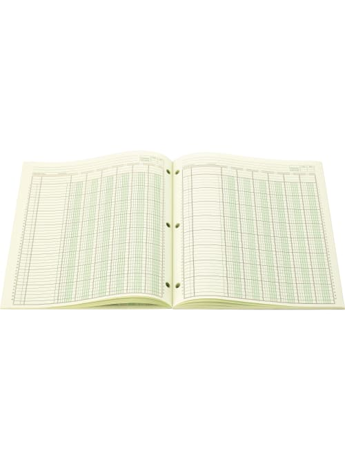 50 // P Wilson Jones Side-Bound Punched Columnar Pads,50 Sheet s - 11 x 16.33 Sheet Size Green
