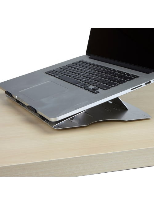 Mind Reader Adjustable Laptop Cooling Stand 3 75 H X 12 12 W X 9 5 D Silver Lcoolst Sil Office Depot