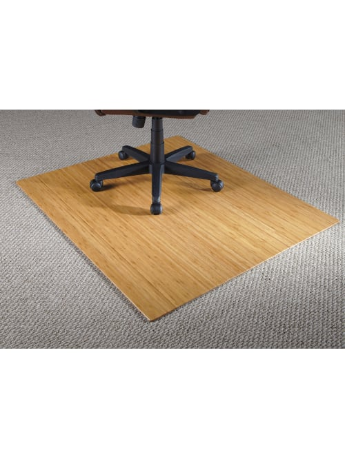 Reale Bamboo Roll Up Chair Mat 48 X