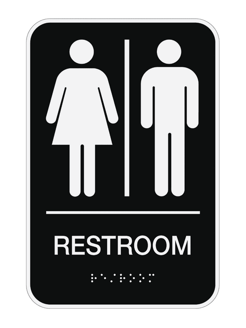 Cosco Ada Menswomensunisex Restroom Sign 6 X 9 Black Office Depot