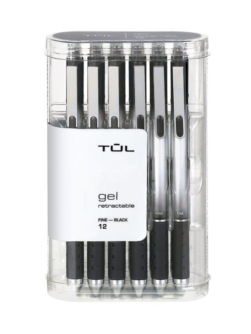 Gel Pens 12 Count 0.5mm Black Ink Gel Pen Fine Point