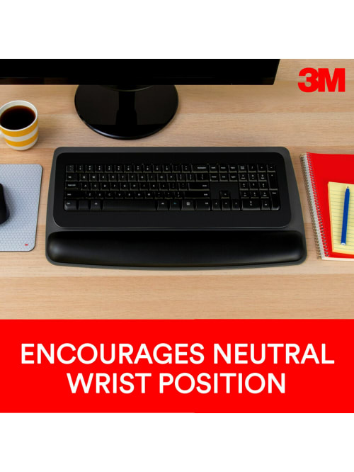 ,Black 3M Tilt-Adjustable Gel Wrist Rest Platform Antimicrobial  Product Protection WR420LE