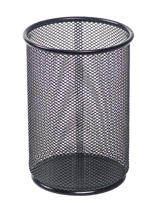 Office Steel Metal Mesh Cylinder Pen Pencil Eraser Stationery Holder Container