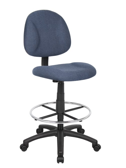 Boss Drafting Stool No Arms Bluechrome B1615 Be Office Depot