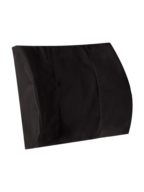dmi memory foam lumbar pillow back support cushion 3 h x 14 w x 13 d black item 184144