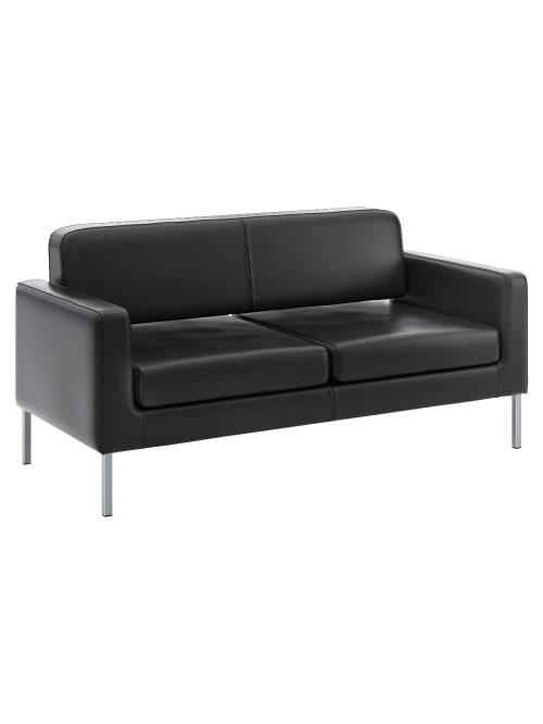 Hon Corral Bonded Leather Sofa Black