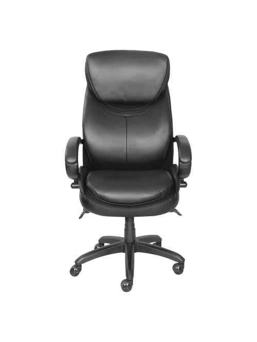 La Z Boy High Back Executive Chair Black Office Depot