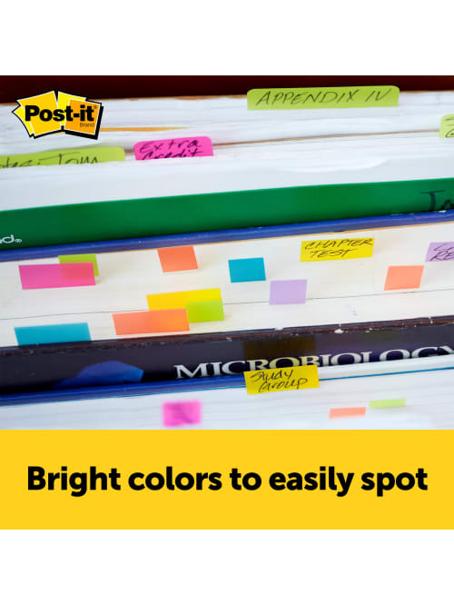 1//2 in x 1 3//4 in 50 Sheets//Pad - 5 Pack 670-10AB Post-it Page Markers Assorted Bright Colors 10 Pads//Pack