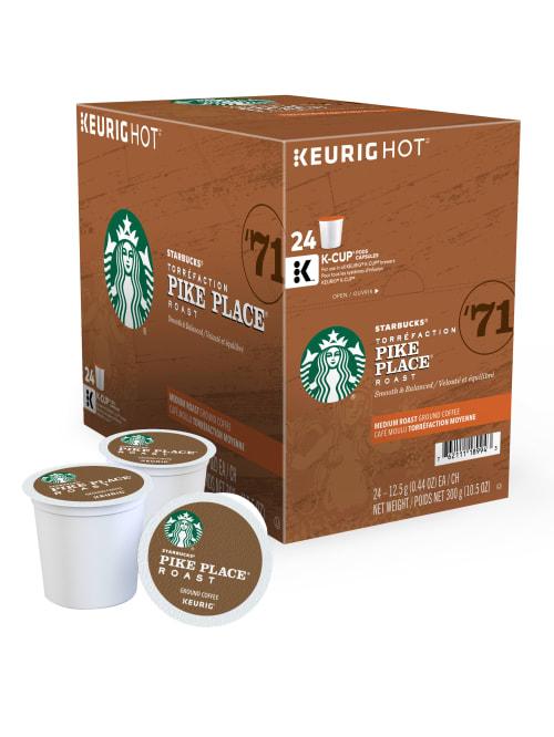 Starbucks Single Serve Coffee K Cup Pike Place Carton Of 24 Office Depot