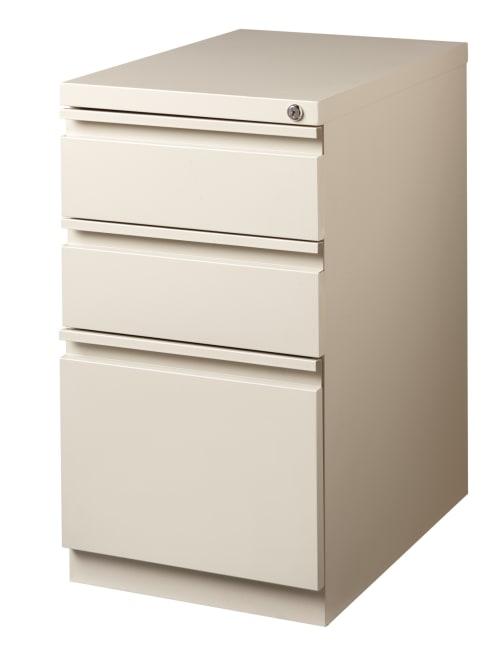 Workpro 23 D Vertical 3 Drawer Mobile Pedestal File Cabinet Metal Putty Office Depot