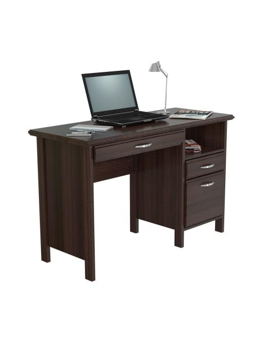 Inval Contemporary 47 W Computer Desk, Espresso Office Desk