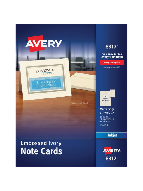 Avery Note Cards Template from media.officedepot.com