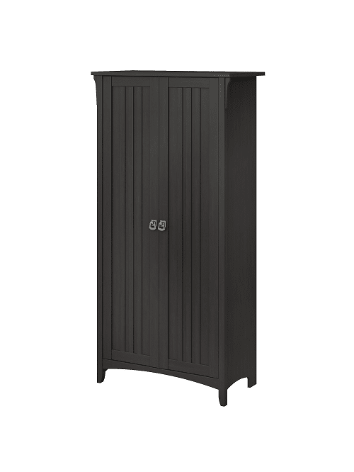 Bush Furniture Salinas Tall Cabinet, Tall Storage Cabinets With Doors