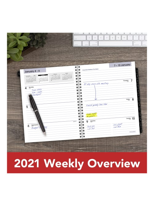 2019 6 7//8 x 8 3//4 DayMinder Executive Weekly//Monthly Refill for G545-14 and G545-00