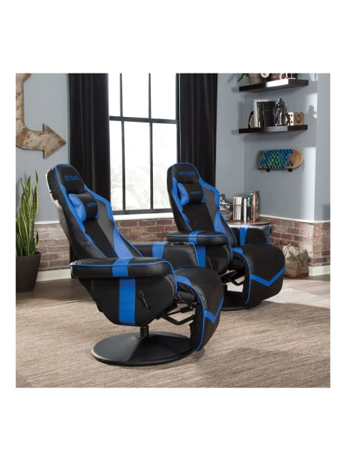 RSP-900-BLU Reclining Gaming Chair in Blue RESPAWN-900 Racing Style Gaming Recliner