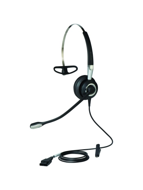 Jabra Biz 2400 Ii Usb Headset Stereo Usb Wired Over The Head Binaural Supra Aural Noise Cancelling Microphone Noise Canceling Office Depot