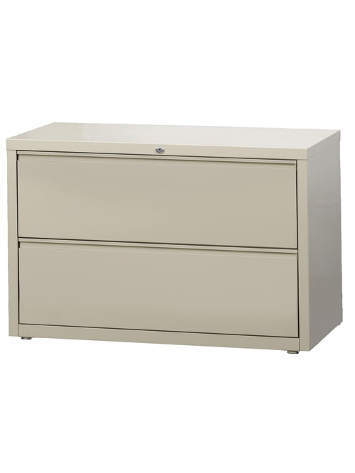 Workpro 42 W Lateral 2 Drawer File Cabinet Metal Putty Office Depot