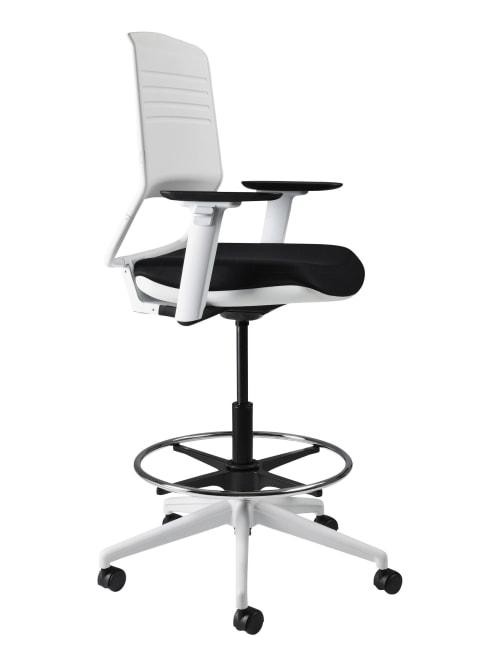 Koplus Switch Fabric Drafting Chair Royal Blackwhite Office Depot