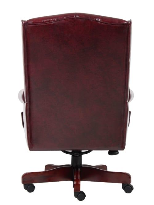 Boss Traditional Chair Burgundymahogany