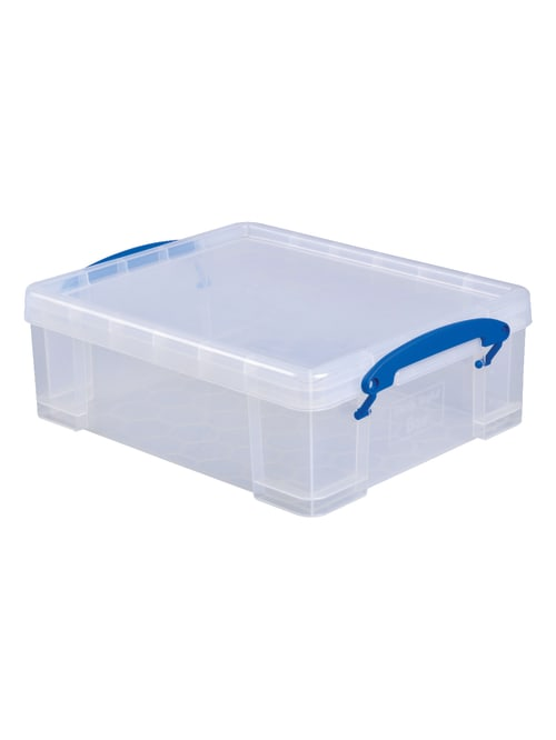 Really Useful Box Plastic Storage Container 8 1 Liters 14 X 11 X 5 Clear Office Depot