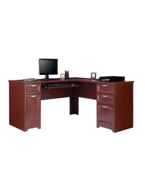 Realspace Magellan 59 W L Shaped Desk Classic Cherry Office Depot