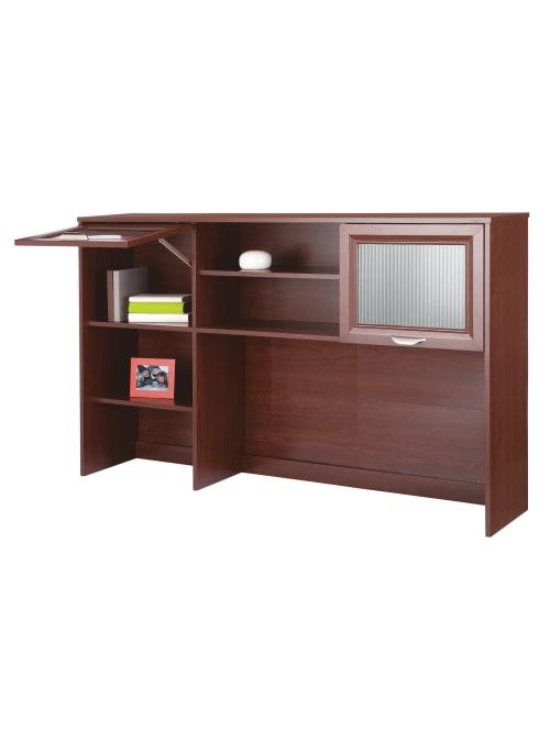 Classic Cherry Realspace Magellan 58W Hutch for Corner//L-Desk