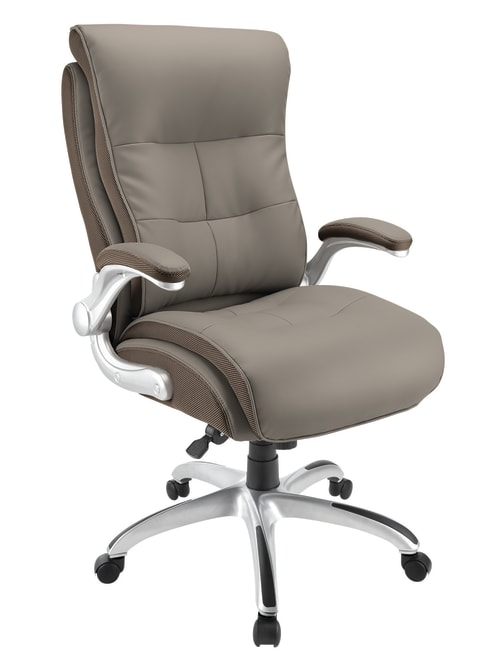 Realspace Ampresso Chair Taupesilver Office Depot