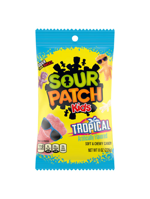 Sour Patch Kids Tropical 8 Oz Pack Of 12 Bags Office Depot