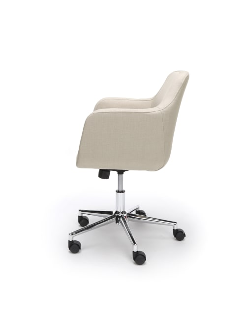 Essentials By Ofm Upholstered Mid Back Home Office Chair Tanchrome Office Depot