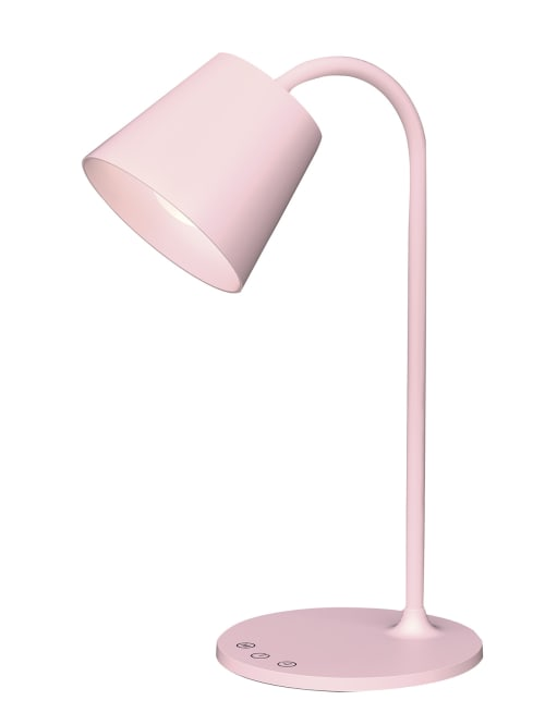 Realspace Kessly Led Desk Lamp Pink, Pink Desk Lamp