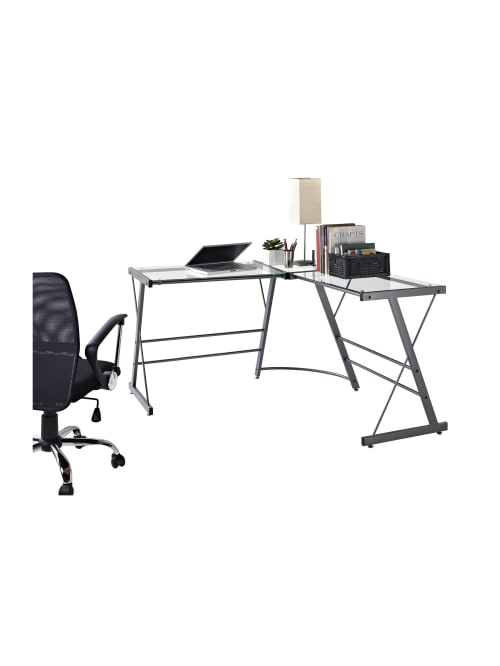 Gl L Shaped Computer Desk Gray