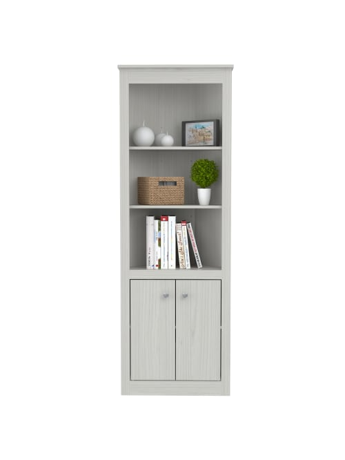 Inval 5 Shelf 2 Door Corner Bookcase 70