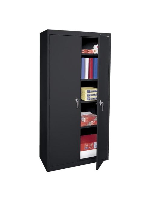 Sandusky Welded Cabinet 4 Shelves Black