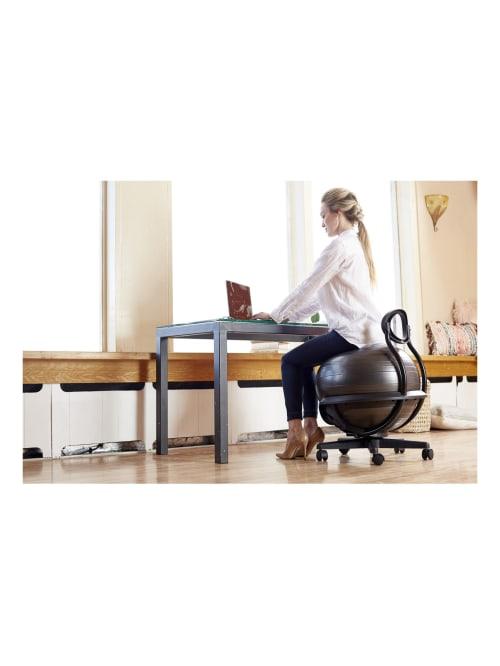 Gaiam Ultimate Balance Ball Chair Black Office Depot