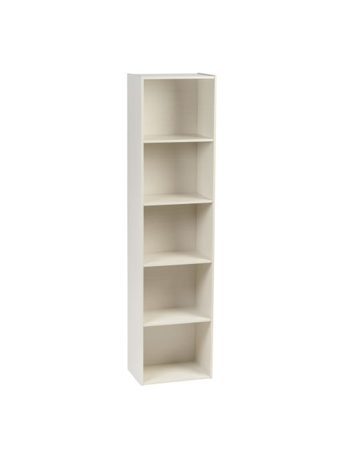 Iris 67 H 5 Tier Bookcase White