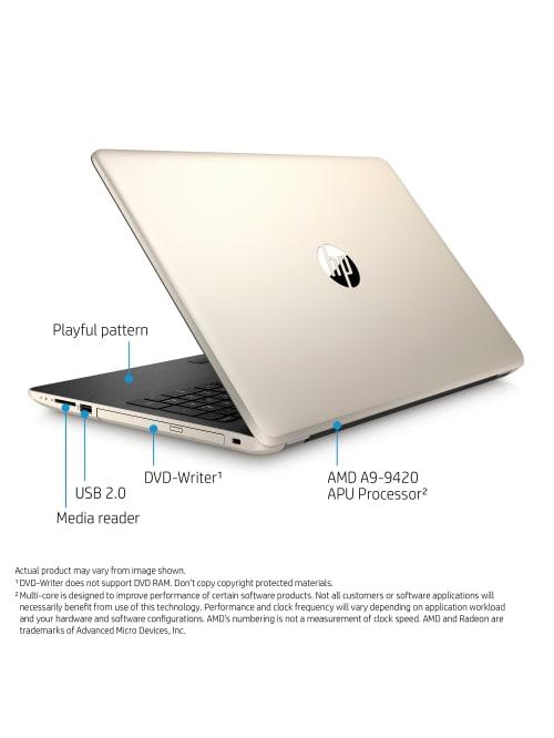 Hp 15 Bw071nr Laptop 15 6 Screen 7th Gen Amd A9 4gb Memory 1tb Hard Drive Windows 10 Home Office Depot
