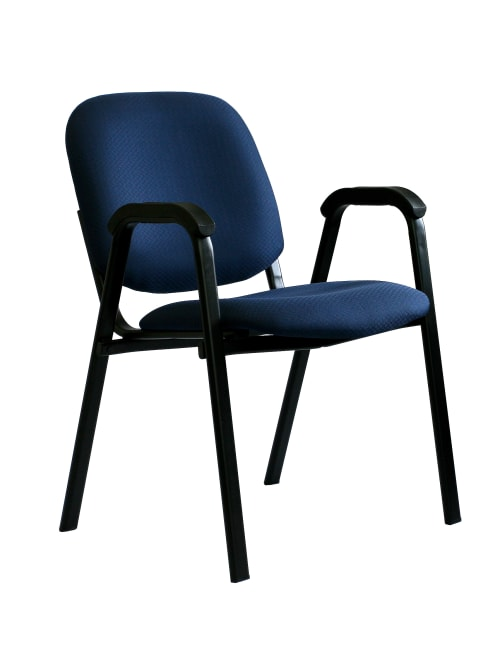 Office Stor Plus Stacking Chair Blackblue Office Depot