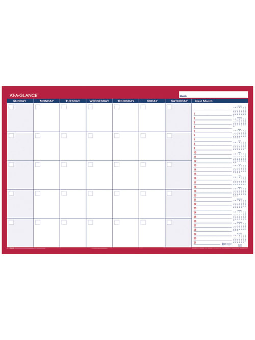 """2021 AT-A-GLANCE 2-Sided 24/"""" x 36/"""" Horizontal Erasable Wall Planner PM28-28"""