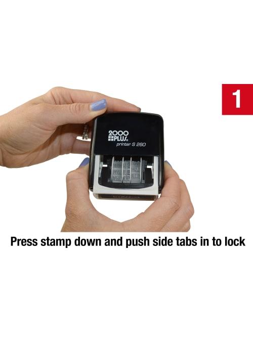 entrepreneur.cd 2000plus Date and Message Stamp 4 in 1 Self-inking ...