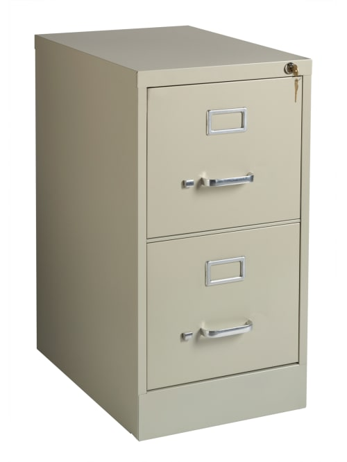 Realspace 22 D 2 Drawer Cabinet Putty, File Cabinet 2 Drawer With Lock