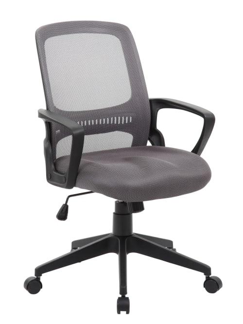 Boss Mesh Task Chair Grayblack Office Depot