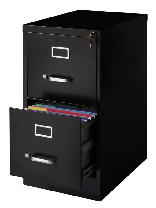 Realspace 22 D 2 Drawer Cabinet Black, File Cabinet 2 Drawer With Lock