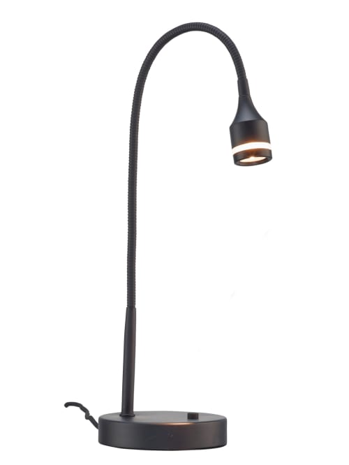 Adesso Gooseneck Desk Lamp 15 H Black