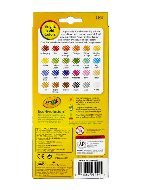 Crayola Erasable Colored Pencils Assorted Colors Pack Of 24 Colored Pencils  - Office Depot